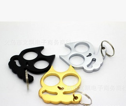 Wholesale Double Refers - Cartoon cat self-defense refers to tiger double finger hand buckle   special offer new ideas   head   iron fist boxing buckle 2   free shipp