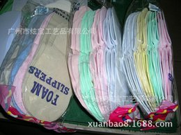 Wholesale Disposable Flip Flop Slipper - HOT Disposable Slipper EVA Foam Salon Spa Slipper Disposable Pedicure thong Slippers   Beauty Slippers 003