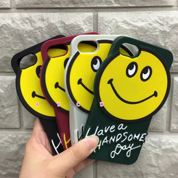 Wholesale 3d Animals Phone Covers - 3D Smile Face Soft Silicone Case For IPhone 8 8+ 7 Plus 5.5 6 6S 6P 4.7 Lovely Rubber Gel Animal Cartoon Cell Phone Back Skin Cover