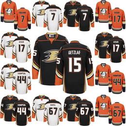 Wholesale Hockey Jersey Kesler - 2017 Anaheim Ducks Hockey Jerseys #15 Ryan Getzlaf #7 Andrew Cogliano #17 Ryan Kesler #67 Rickard Rakell #44 Nate Thompson Men Youth Jersey