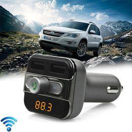 Argentina Nuevo BT20 Bluetooth Car Kit Manos libres coche MP3 Bluetooth 4.0 Soporte USB Disk / Micro SD Card Car Cargador Dual USB para teléfono inteligente al por menor Suministro