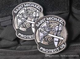 Patch 3D di alta qualità da 2,8 * 3,3 pollici Proteggici Patch ricamate con nastro magico distintivo militare della fascia del braccialetto di saint michael GPS-039 GAME da
