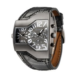 Wholesale Watch Super Cool - luxury 5 Colors Super Cool Brand Men Quartz Watches Double Time Show Snake Band Casual Men Sports Watches Male Military Clock