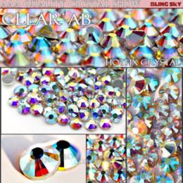 Wholesale Rhinestones Crystal Flatback Trims - AAA Quality HotFix Rhinestone SS30 Clear AB Crystal 288pcs Bag FlatBack strass glass stone for Trim DIY wedding garment clothing M66517