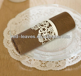 Wholesale Wedding Invitations Napkins - Wholesale- Wedding invitation stationary laser cutting paper napkin ring