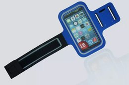 Wholesale Neoprene Sport Arm Bands - 2pcs Sports Running Armband Arm Bag Mobile Phone Holder For iphone 6 plus 6s plus 5.5 inch Arm Band Case Gym Pouch Belt Cover