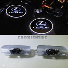 Wholesale Es Led - Car Door Led external light Welcome Logo Ghost Shadow Light for Lexus Courtesy Laser Projector Logo Ghost Shadow lamp ES GS GX IS LS LX RX