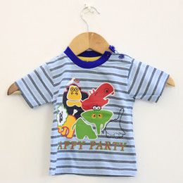 Wholesale Toddler Boys Party Clothes - 2016 summer soft cotton kid infant toddler baby boy clothing short-sleeve tee t-shirt Appy Party print short child baby clothing 5pcs lot