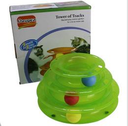 Jugar pelotas online-Funny Cat Pet Toy Cat Toys Inteligencia Triple Play Disc Cat Toy Balls