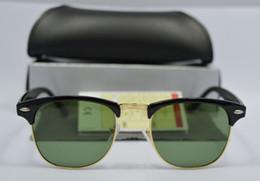 lunettes en or sans bordure Promotion Mens Womens Designer Lunettes de Soleil Semi Sans Monture Lunettes de Soleil Cadre Doré Verres Verre Vert 51mm Avec Etui Brun