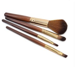 Wholesale Ol Set - Professional 4Pcs Makeup Brushes Eyeshadow Lip Blush Foundation Brush Set Cosmetic Tool Kit Beauty For Women OL Girls