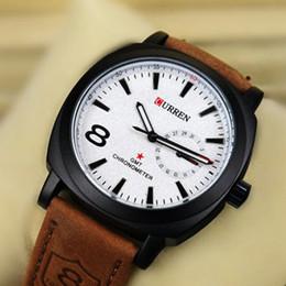2019 orologi di moda 2016 Curren 8139 uomini polso marca orologio da polso in pelle da uomo impermeabile militare Army Vogue Sport moda uomini d'affari orologio orologi di moda economici