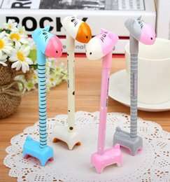 Wholesale Hippo Art - 20pcs Cute Hippo Style Ballpoint Pens Signing Pen Gel Pens Student Stationery Novelty Pens Creative Stationery Children's Gifts Papelaria