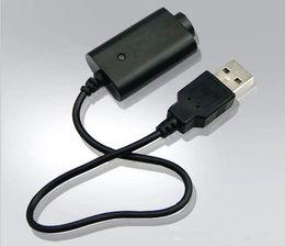 Wholesale ecig t - Ecig EGO USB Charger 5V Long Short Black EGO Charger for ego t evod vision spinner 2 Battery DHL FREE