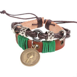 Wholesale Uk Coins - Vintage UK style Coin Queen Beauty Unisex BRACELET Women wrist Bracelets Charm wrist bangle jewelry FAST DELIVERY Traceable tracking number