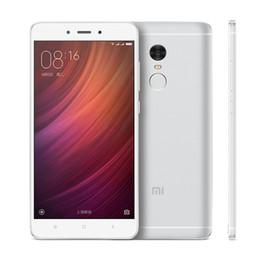 Wholesale Gold Battery Note - 3GB 32GB 64GB Xiaomi Redmi Note 4 4G LTE Touch ID Deca Core Helio X20 MTK6797 Fingerprint Scanner 13.0MP Camera 4100mAh Battery Smartphone