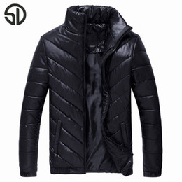 Wholesale Youth Pads - Wholesale- Men's winter padded wadded jacket coat otherwear big size M-5XL Thick Bubble Puffer Coat Cotton Padded Jacket Youth Winter Warm