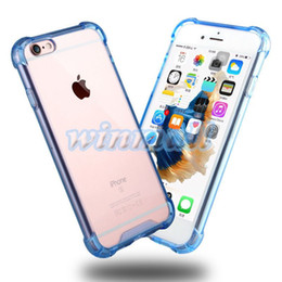 Wholesale Hard Back Bumper Frame - Transparent Shockproof Acrylic Hybrid Armor Bumper Side Soft TPU Frame Back PC Hard Case Clear cover for iphone 7 6s Plus Samsung Note 7