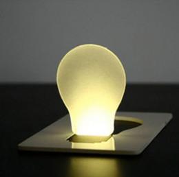 2019 lampe de lune jaune 2016 LED Night Light Carte Lumière Portable Mini Carte Portefeuille Lampe De poche Lampe Forme Pocket Light Nouveauté