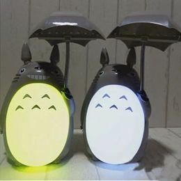 Wholesale Kawaii Desk - wholesale new Kawaii Cartoon My Neighbor Totoro Lamp Led Night Light ABS Reading Table Desk Lamps for Kids Gift Home Decor Novelty Lightings