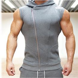 Wholesale Men Sleeveless Hoodies - Fall-Crime Gym Body Engineers Hoodies Stringer Vest Man Body Engineers Fitness Movement Sleeveless Vest Vest Vst
