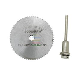 """Wholesale Steel Wheel Pc - 50mm HSS Rotary Circular Saw Blades Steel Saw Cutting Disc Cut Off Wheel For Dremel With 1 pcs 1 8"""" Mandrel order<$18no track"""