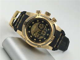 Wholesale Gold Sub Watch - designer gold invicta All Sub Dials Working Luxury mens watch rubber with blue dial from the wind mechanical watch AAA watch original
