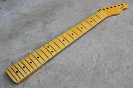 Wholesale Electric Guitar Fire - The fire eagle tiger stripes maple xylophone Tele model electric guitar neck Retro Huang Qin neck