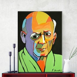 Wholesale Pablo Picasso Oil - ZZ1158 modern abstract portrait canvas art pablo picasso portrait canvas oil art painting wall pictures for livingroom bedroom