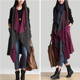Wholesale Korean Vest Coat - 2016 Spring autumn Clothing New style Korean style Women clothing Two sides Vests Loose Plus size Cape Coat Women tops