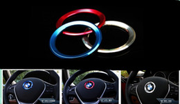 Wholesale Red Wheel Car Cover - 2016 New Aluminum alloy car steering wheel center decorating ring cover for BMW 1   3   4   5   7 - Series