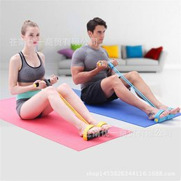 Wholesale Chest Pull Rope Elastic - Wholesale-Sit-ups fitness equipment home exercise chest movement thin waist elastic rope pull rope foot pedal