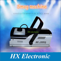 Wholesale disco smoke - 1500W Fog DJ Smoke Machine Stage Effect Fogger Machine haze effect machine Disco Home Party DJ Effect Remote or Power wire control