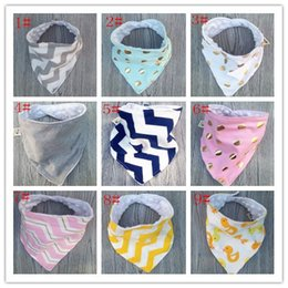 Wholesale Animal Waterproof Bib - baby bibs new handmade baby waterproof triangular bandage Pure cotton double triangular bandage Buckle baby drool towel bibs Baby small bib