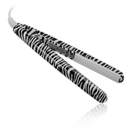 Wholesale Hairstyling Iron - Electronic Professional Hairstyling Mini Portable Ceramic Flat Zebra Hair Straightener Irons Styling Tools