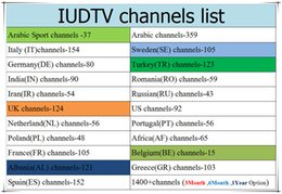 Wholesale Arabic Boxes - IUDTV Sweden Iptv Subscription Watch Arabic Italy Turkey UK Portuagl Romania Russian 2000+ European Channels Work On Android Box E2 MAG m3u
