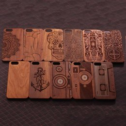 Wholesale Mobile Cover Wood - New Arrival Retro Natural Vintage Walnut Wooden Case Cover for Iphone 6 6S Plus 4.7 5.5 inch 5S 5 Hard Wood PC Mobile Phone Cases in Stock