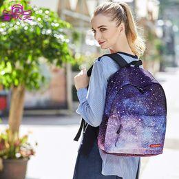 Wholesale Colorful Canvas Backpacks - Big Capacity Colorful Multicolor Women Sprayground Backpak Stylish Galaxy Star Universe Space Bag Girls Gift School Backbag
