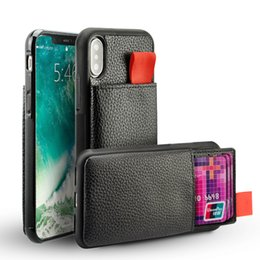 Wholesale Block Cards - For iPhone X 7 Wallet Case Shockproof Leather Pouch Credit Card Holder & Hidden TPU RFID Blocking For iphone 8 6 Plus Cover Pocket