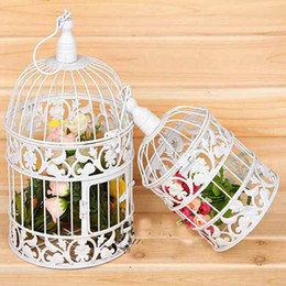 Wholesale Metal Bird Cages Decorative - 2016 Vintage Decorative Bird Cages for Parrot Hendryx Dome Beehive Hanging or Table Top House Accessories White Black Birdcage Sale
