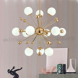 Wholesale Glass Ball Pendant Lamp - LED meal pendant lamps postmodern creative personality dandelion glass ball American simple bedroom pendant lights MYY