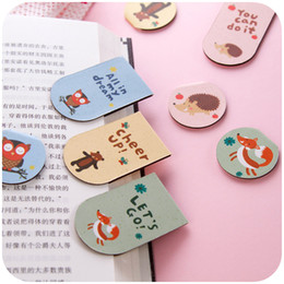 Wholesale Small Bookmark Clips - Wholesale-1pc Classical Chinese Style DIY Small Fresh Cartoon Magnetic Bookmarks Pages Of Fine Metal Bookmark Clip