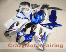 Wholesale Cool Compression - 3 gifts New Fairing For SUZUKI GSX-R1000 K7 07 08 GSX R1000 GSXR 1000 GSXR-1000 K7 07-08 GSXR1000 2007 2008 Bodywork Cool blue and white