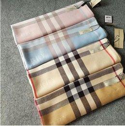 Wholesale Top Tartan Scarf - Winter Top Qualtiy 180cm*70cm Imitation cashmere Euro Brand French designer scarf Pattern Printed Women Gift shawl scarf