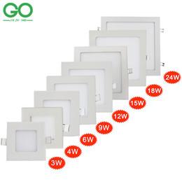 Las luces del panel del cuadrado del LED 3W 4W 6W 9W 12W 15W 18W 24W 24W El techo de la superficie Downlight ahuecado SMD2835 El panel de techo abajo enciende la luz desde fabricantes