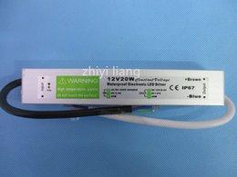 Toptan 1 adet AC DC 12 V 20 W Su Geçirmez IP67 Elektronik LED Sürücü açık led şerit lamba için led Güç Kaynağı cheap power strips wholesale nereden güç şeritleri toptan ticareti tedarikçiler