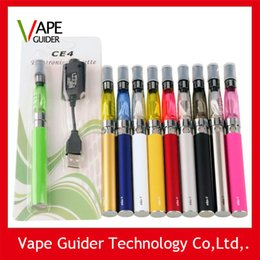 Wholesale Ego Ce4 Blister Free Shipping - eGo CE4 Blister kit electronic cigarette starter kits with ce4 atomizer and 650mAh ego t battery Various color free shipping