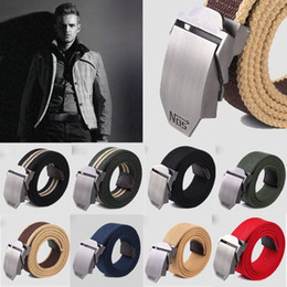 Wholesale Outdoor Equipment Brands - Fashion Hot Canvas Outdoor Belt Military Equipment Cinturon Western Strap Men's Luxury Mens For Men Tactical Brand Cintos Handbag