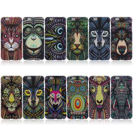Wholesale Owl Back - Animals Lion Wolf Owl Pattern Hard Back Phone Case For iPhone se 5s 6 s 7 Plus Glow In Dark Luminous Forest King US1