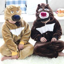 Wholesale Kids Bear Costumes - 3 PCS Unisex Kids Animal Kigurumi Pajamas Cosplay Sleepwear Costumes Jumpsuit Shoes Paws Pandas cute bear pajamas